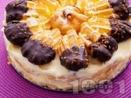 Еклерова торта с ванилов крем
